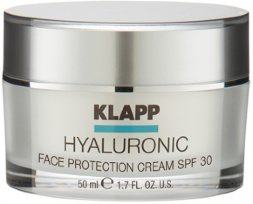 Klapp Hyaluronic Face Protection Cream SPF 30, 50 мл.